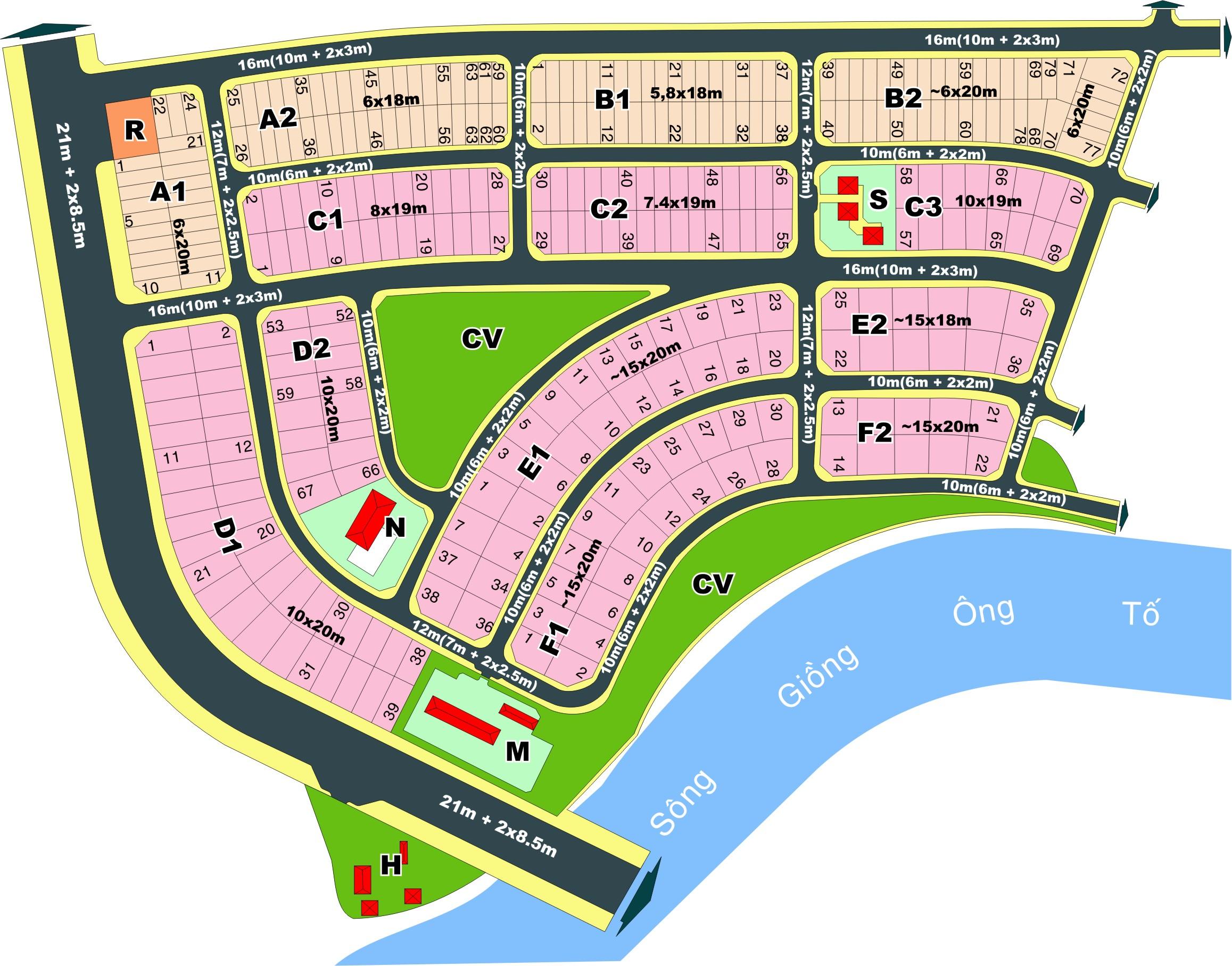 Bán đất nhà phố Văn Minh Q2 ngay gần dự án của Novaland, DT: 6x20m, giá 65tr/m2