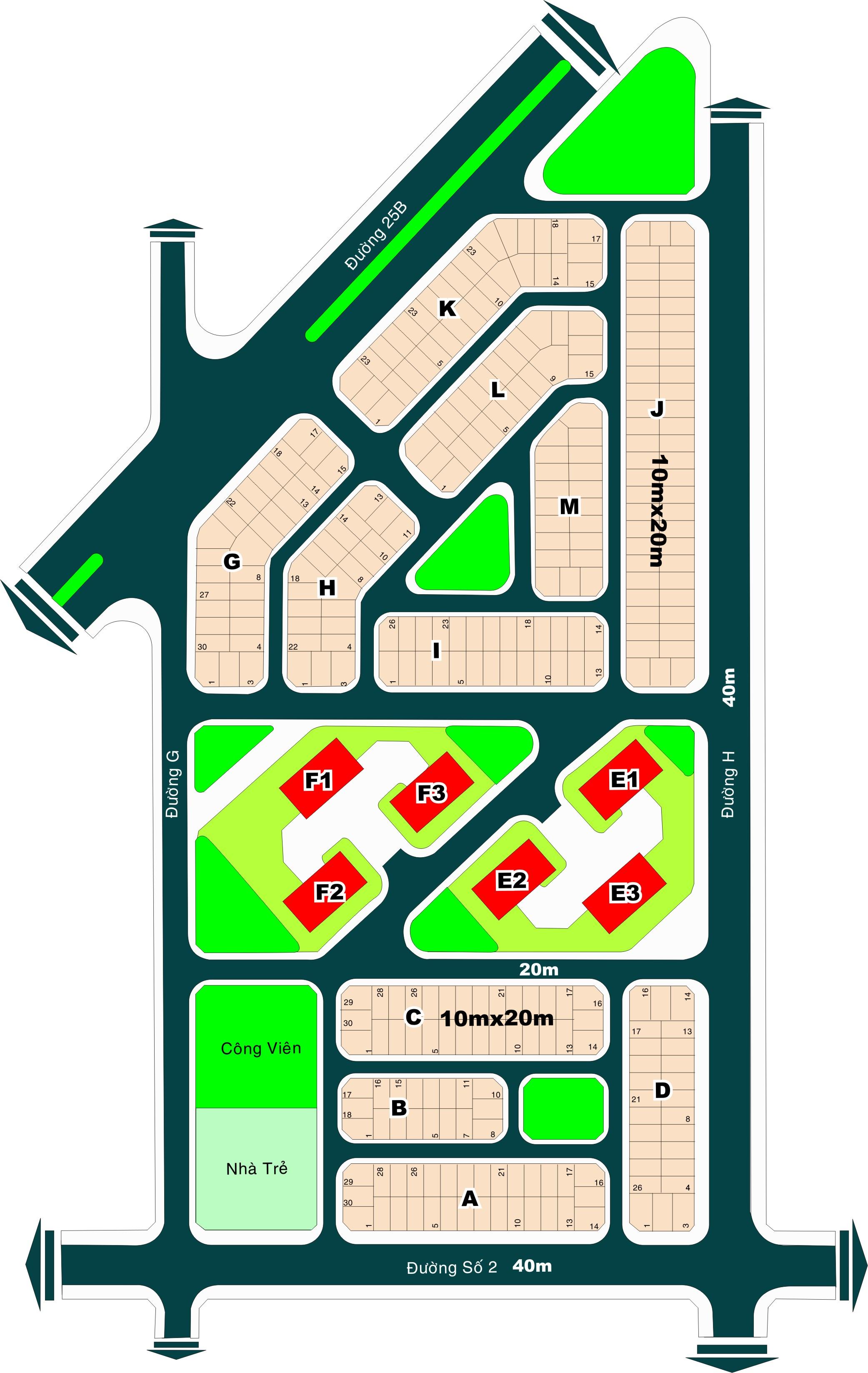 Bán đất Thạnh Mỹ Lợi, Q2 dự án Đá Bình Dương, DT: 10x20m hướng Tây Bắc, giá 33tr/m2